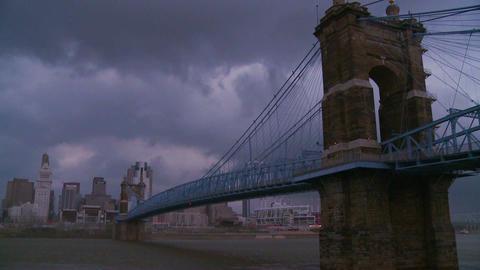 Storm clouds over Cincinnati Ohio Footage