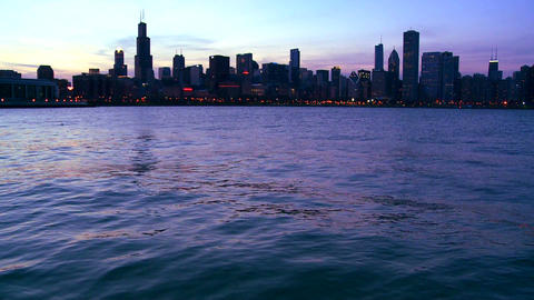 The City Of Chicago At Twilight stock footage