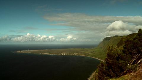 The coastline of Molokai, Hawaii Stock Video Footage