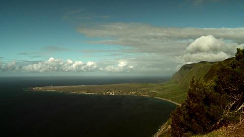The coastline of Molokai, Hawaii Footage