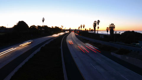 Wide angle Time lapse zooming out of morning rush Stock Video Footage