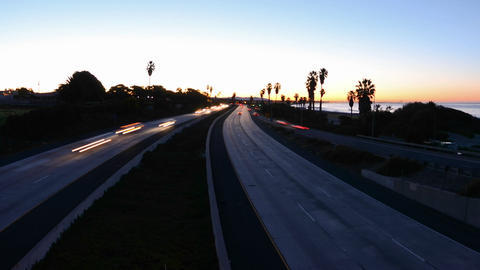 Wide angle Time lapse zooming out of morning rush  Footage