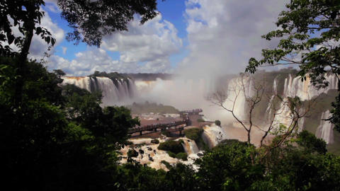 The beautiful Iguacu waterfall Footage