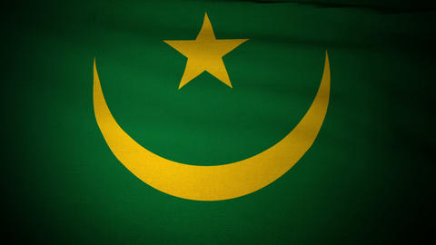 Flag Mauritania 04 Stock Video Footage