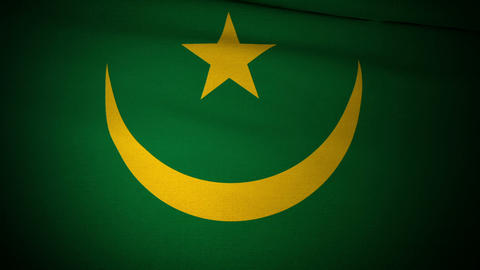 Flag Mauritania 04 Animation