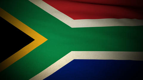Flag South Africa 04 Stock Video Footage