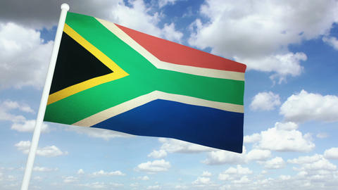 Flag South Africa 02 Animation