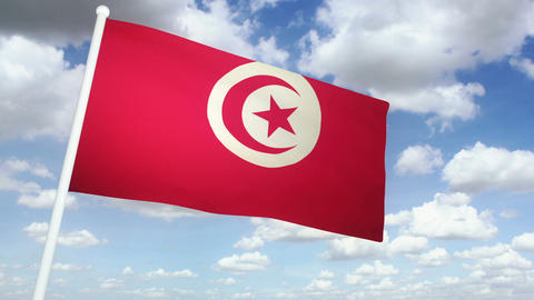 Flag Tunisia 02 Animation