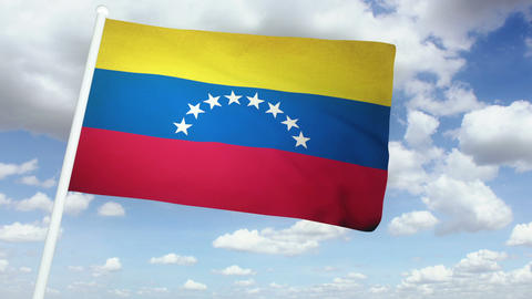 Flag Venezuela 02 Stock Video Footage
