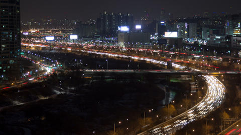 Seoul City 122 HD Stock Video Footage