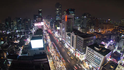 Seoul City 131 HD Stock Video Footage