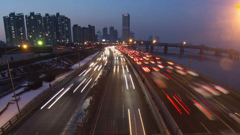 Seoul City 143 Zoom Stock Video Footage