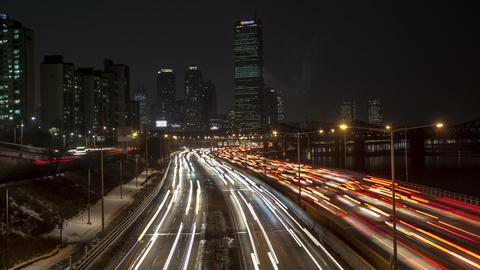 Seoul City 152 HD Stock Video Footage