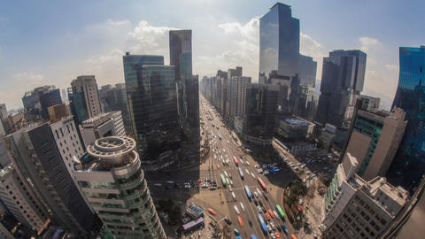 Seoul City 172 HD Stock Video Footage