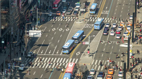 Seoul City 178 Zoom HD Stock Video Footage