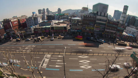 Seoul City 179 Zoom HD Stock Video Footage