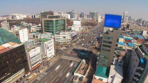 Seoul City 180 Zoom HD Stock Video Footage