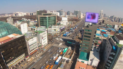 Seoul City 180 Zoom HD Stock Video Footage