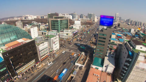 Seoul City 180 Zoom HD Animation