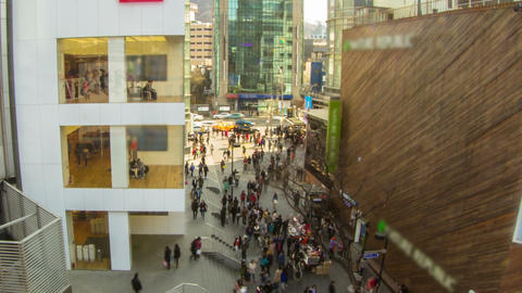 Seoul City 192 Zoom HD Stock Video Footage