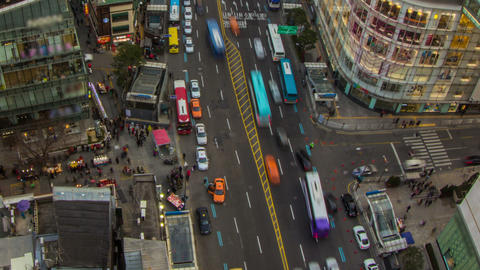 Seoul City 201 Zoom HD Stock Video Footage