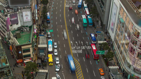 Seoul City 203 Zoom HD Stock Video Footage