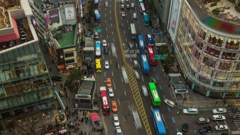 Seoul City 203 Zoom HD Stock Video Footage