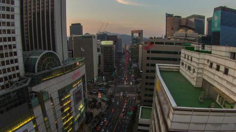Seoul City 206 Zoom HD Stock Video Footage
