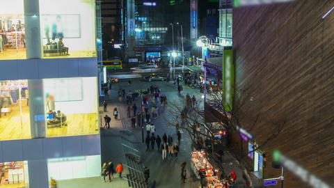 Seoul City 211 Zoom HD Stock Video Footage