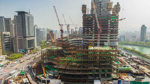 Seoul City 225 HD Stock Video Footage