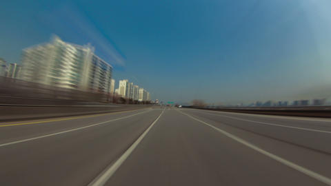 Seoul City Driving 1b HD Stock Video Footage