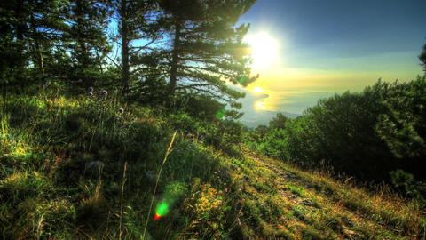 Morning View Of Yalta. HDR Time Lapse Shot Motoriz Stock Video Footage