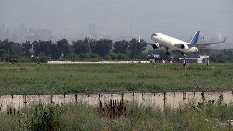 Landing Airplane Stock Video Footage