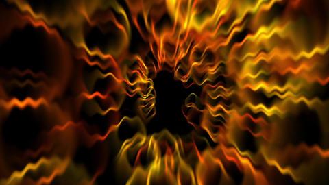 golden circle fiber optic wire wave & dazzling light Animation