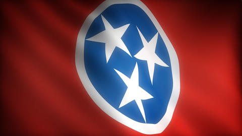Flag of Tennessee Stock Video Footage