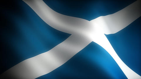 Flag of Scotland Stock Video Footage