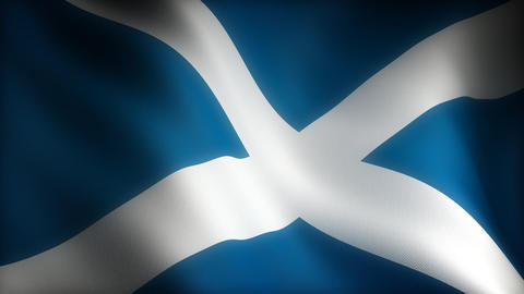 Flag of Scotland Animation