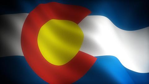 Flag of Colorado Stock Video Footage