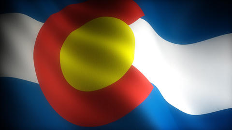 Flag of Colorado Stock Video Footage