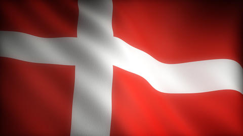 Flag of Denmark Stock Video Footage