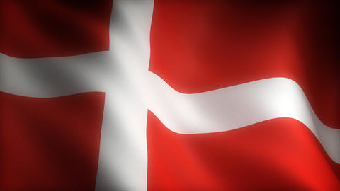 Flag of Denmark Animation