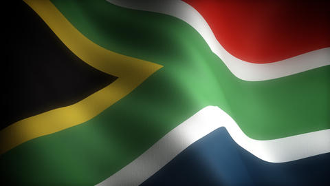 Flag of South Africa Stock Video Footage