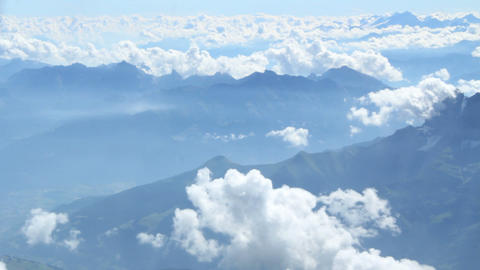 Above The Alps stock footage
