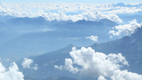 Above the Alps Stock Video Footage