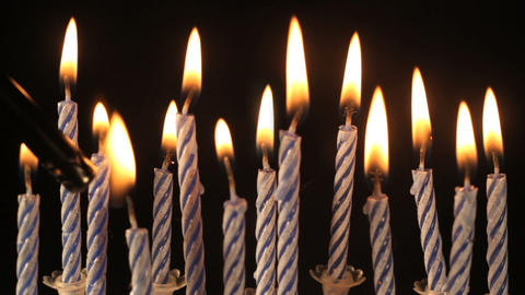 Birthday candles Stock Video Footage