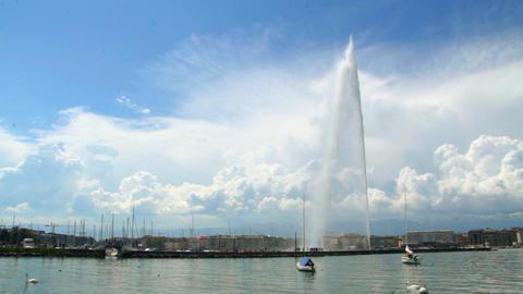 Jet d'eau - Geneva Stock Video Footage