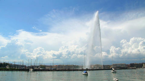 Jet d'eau - Geneva Stock Video Footage