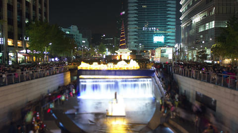 Seoul City 27 Zoom Stock Video Footage