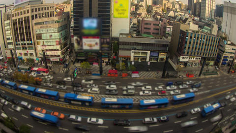 Seoul City 28 Zoom Stock Video Footage