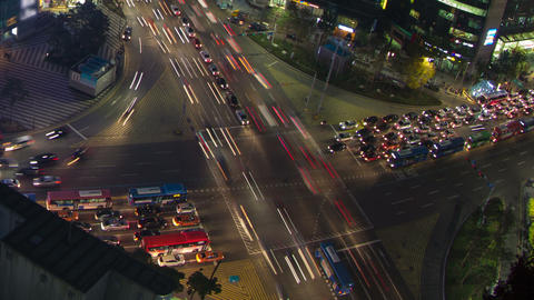 Seoul City 41 Zoom Stock Video Footage